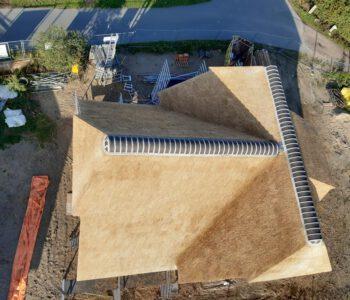 Nieuwe rieten dak in Wezep