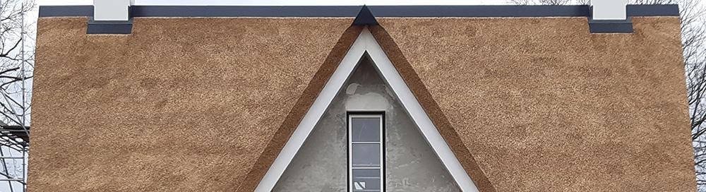 Rieten dak op nieuwbouw woning in Elburg